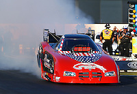 Nov 10, 2013; Pomona, CA, USA; NHRA funny car driver Gary Densham during the Auto Club Finals at Auto Club Raceway at Pomona. Mandatory Credit: Mark J. Rebilas-