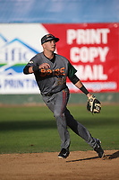 Matt McLaughlin (54) of the Boise Hawks in the field during a game against the Everett AquaSox at Everett Memorial Stadium on July 20, 2017 in Everett, Washington. Everett defeated Boise, 13-11. (Larry Goren/Four Seam Images)