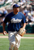 Kyle Blanks - San Diego Padres - 2009 spring training.Photo by:  Bill Mitchell/Four Seam Images