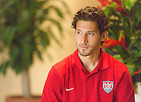 Kingston, Jamaica - Wednesday, June 5, 2013: USMNT media roundtable.