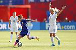 (L-R) Mizuho Sakaguchi (JPN), Katie Chaoman (ENG), JULY 1, 2015 - Football / Soccer : FIFA Women's World Cup Canada 2015 Semir-final match between Japan 2-1 England at Commonwealth Stadium in Edmonton, Canada. (Photo by Yusuke Nakanishi/AFLO SPORT)