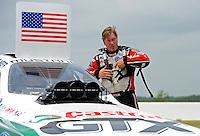 Apr. 30, 2011; Baytown, TX, USA: NHRA funny car driver Mike Neff during qualifying for the Spring Nationals at Royal Purple Raceway. Mandatory Credit: Mark J. Rebilas-