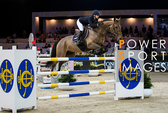Jane Richard Philips of Switzerland riding Izmir van de Baeyenne competes in the Masters One DBS during the Longines Masters of Hong Kong at AsiaWorld-Expo on 11 February 2018, in Hong Kong, Hong Kong. Photo by Ian Walton / Power Sport Images