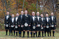 Dani & Bryan wedding iin Pittsburgh, PA on October18, 2014. Dani and Bryan had an Irish/ Scottish themed wedding with the groom and his groomsmen wearing kilts and a Pittsburgh policeman playing the bagpipes during the ceremony. the ceremony took place at St. Patrick Catholic Church in Noblestown Pa and the reception was held at Quicksilver Gulf cours in McDonald PA.