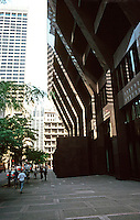 Boston:  First National Bank of Boston, Federal St. (West side), 1971.  Dramatic, but hardly friendly to street.  Photo '88.
