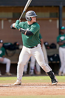 Brady Garrison (30) of the University of South Carolina Upstate Spartans bats in the Green and Black Fall World Series Game 2 on Saturday, October 31, 2020, at Cleveland S. Harley Park in Spartanburg, South Carolina. Green won, 6-5. (Tom Priddy/Four Seam Images)