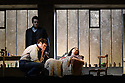 "English National Opera present their fourth revival of Jonathan Miller's production of Puccini's ""La Boheme"", in which Natalya Romaniw makes her ENO debut. Cast is: Natalya Romaniw (Mimi), Jonathan Tetelman (Rodolfo), Nicholas Lester (Marcello), Simon Butteriss (Benoit/Alcindoro), Nadine Benjamin (Musetta), David Soar (Colline), Bozidar Smiljanic (Schaunard). Picture shows: Bozidar Smiljanic (Schaunard), Jonathan Tetelman (Rodolfo), Natalya Romaniw (Mimi)"