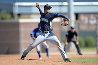 Seattle Mariners pitcher Yeuri Gonzalez (53) during an instructional league game against the Kansas City Royals on October 2, 2013 at Surprise Stadium Training Complex in Surprise, Arizona.  (Mike Janes/Four Seam Images)