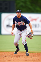 Mississippi Braves first baseman Seth Loman (22) during practice before a game against the Mobile BayBears on April 28, 2015 at Hank Aaron Stadium in Mobile, Alabama.  The game was suspended after the top of the second inning with Mobile leading 3-0, the BayBears went on to defeat the Braves 6-1 the following day.  (Mike Janes/Four Seam Images)