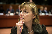 Croatian Foreign Minister Vesna Pusic prior to the European Union Foreign Ministers Council at EU headquarters  in Brussels, Belgium on 29.01.2015 Federica Mogherini , EU High representative for foreign policy called extraordinary meeting on the situation in Ukraine after the attack on Marioupol.  by Wiktor Dabkowski