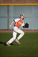 Jacob Terwilliger (1) of Lovejoy High School in Fairview, Texas during the Baseball Factory All-America Pre-Season Tournament, powered by Under Armour, on January 13, 2018 at Sloan Park Complex in Mesa, Arizona.  (Mike Janes/Four Seam Images)