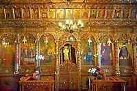Iconostasis of the 12th century Byzantine Holy Church of Nea Megali Panagia, restored 1727, Thsalonica, Greece