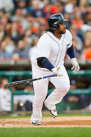 Prince Fielder (28) of the Detroit Tigers starts down the first base line during the Major League Baseball game against the Tampa Bay Rays at Comerica Park on June 4, 2013 in Detroit, Michigan.  The Tigers defeated the Rays 10-1.  Brian Westerholt/Four Seam Images