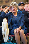 © Joel Goodman - 07973 332324 . 02/10/2017. Manchester, UK. UKIP MEP JANE COLLINS at a fringe , right-wing Bruges Group event at Manchester Town Hall during the second day of the Conservative Party Conference at the Manchester Central Convention Centre . Photo credit : Joel Goodman