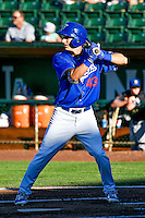 Mitchell Hansen (43) of the Ogden Raptors at bat against the Missoula Osprey in Pioneer League action at Lindquist Field on July 14, 2016 in Ogden, Utah. Ogden defeated Missoula 10-4. (Stephen Smith/Four Seam Images)