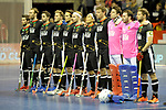 Berlin, Germany, February 10: During the FIH Indoor Hockey World Cup semi-final match between Germany (black) and Iran (white) on February 10, 2018 at Max-Schmeling-Halle in Berlin, Germany. Final score 6-2. (Photo by Dirk Markgraf / www.265-images.com) *** Local caption ***