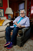 """NEW YORK - SUNDAY NEWS:  Ray Smith in his UWS apartment, Manhattan, NY, Thursday, February 23, 2017.  Smith, 74, is a former regular dancer on Bandstand in the late 1950's to the early 1960's.  He has co-authored a new book """"Bandstand Diaries, The Philadelphia Years 1956-1963.<br /> <br /> PICTURED:   <br /> <br /> (Angel Chevrestt, 646.314.3206)"""