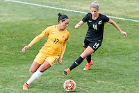 June 4, 2016: KYAH SIMON (17) of Australia controls the ball during an international friendly match between the Australian Matildas and the New Zealand Football Ferns as part of the teams' preparation for the Rio Olympic Games at Morshead Park in Ballarat. Photo Sydney Low