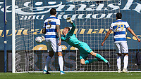 Joe Lumley of Queens Park Rangers makes a save during Queens Park Rangers vs Millwall, Sky Bet EFL Championship Football at Loftus Road Stadium on 18th July 2020