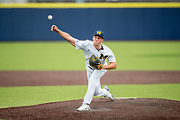 Michigan Wolverines pitcher Blake Beers (29) delivers a pitch to the plate during NCAA baseball action against the Ohio State Buckeyes on April 10, 2021 at Ray Fisher Stadium in Ann Arbor, Michigan. The Wolverines defeated the Buckeyes 7-0. (Andrew Woolley/Four Seam Images)