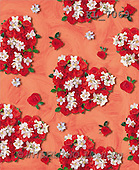 Interlitho, Erica, GIFT WRAPS, paintings, hearts of roses(KL7069,#GP#) everyday