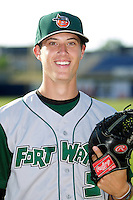 Fort Wayne TinCaps Matt Wisler #5 poses for a photo before a game against the Lake County Captains at Classic Park on July 2, 2012 in Eastlake, Ohio.  Fort Wayne defeated Lake County 5-4.  (Mike Janes/Four Seam Images)