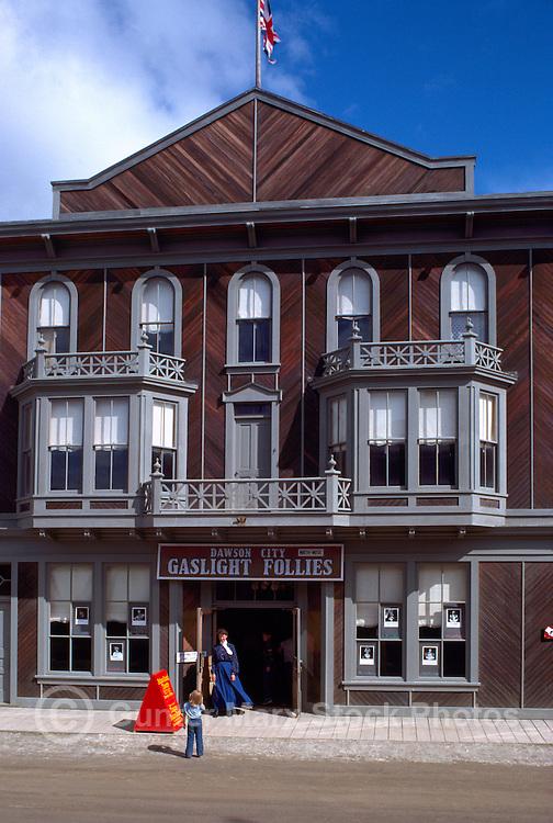 "Dawson City, YT, Yukon Territory, Canada - National Historic Site, NHS - Historic ""Palace Grand Theatre"" (built 1897), ""Gaslight Follies"""