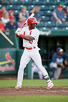 Springfield Cardinals right fielder Jose Adolis Garcia (47) at bat during a game against the Corpus Christi Hooks on May 30, 2017 at Hammons Field in Springfield, Missouri.  Springfield defeated Corpus Christi 4-3.  (Mike Janes/Four Seam Images)