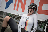 Lisa Brennauer (DEU) post-finish<br /> <br /> Women Elite Individual Time Trial<br /> <br /> UCI 2017 Road World Championships - Bergen/Norway