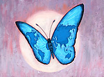 Illustrative image of world map on butterfly wings representing environmental conservation