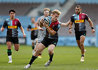 20th February 2021; Twickenham Stoop, London, England; English Premiership Rugby, Harlequins versus Sale Sharks; Louis Lynagh of Harlequins
