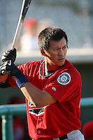 April 19 2009: Kuo Hui Lo of the High Desert Mavericks before game against the Lancaster JetHawks at Clear Channel Stadium in Lancaster,CA.  Photo by Larry Goren/Four Seam Images