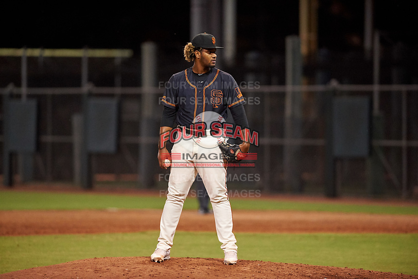 AZL Giants Black relief pitcher Jerson Severino (51) during an Arizona League game against the AZL Giants Orange on July 19, 2019 at the Giants Baseball Complex in Scottsdale, Arizona. The AZL Giants Black defeated the AZL Giants Orange 8-5. (Zachary Lucy/Four Seam Images)
