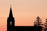 Church Steeple silhouette Lanesboro Harmony Minnesota area.