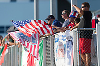 Bradenton, FL - Sunday, June 12, 2018: Fans during a U-17 Women's Championship Finals match between USA and Mexico at IMG Academy.  USA defeated Mexico 3-2 to win the championship.