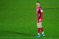 Johnny McNicholl of Scarlets in action during the European Rugby Challenge Cup Round 5 match between the Scarlets and RC Toulon at the Parc Y Scarlets in Llanelli, Wales, UK. Saturday January 11 2020