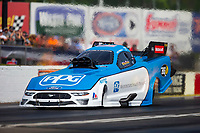 May 4, 2018; Commerce, GA, USA; NHRA funny car driver Bob Tasca III during qualifying for the Southern Nationals at Atlanta Dragway. Mandatory Credit: Mark J. Rebilas-USA TODAY Sports