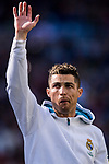 Cristiano Ronaldo of Real Madrid prior to the La Liga 2017-18 match between Real Madrid and Deportivo Alaves  at Santiago Bernabeu Stadium on February 24 2018 in Madrid, Spain. Photo by Diego Souto / Power Sport Images