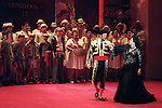 2001 - CARMEN - Escamillo (Jeffrey Wells) romances Carmen (Irina Mishura) in Opera Pacific's production of Carmen.