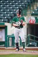 Great Lakes Loons designated hitter Matt Jones (40) during the second game of a doubleheader against the Fort Wayne TinCaps on May 11, 2016 at Parkview Field in Fort Wayne, Indiana.  Great Lakes defeated Fort Wayne 5-0.  (Mike Janes/Four Seam Images)