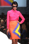 A model walks the runway during the David Peck show at  Fashion Houston at the Wortham Theater Tuesday Nov. 13,2012.(Dave Rossman photo)