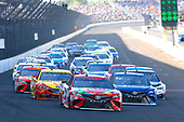 Monster Energy NASCAR Cup Series<br /> Brickyard 400<br /> Indianapolis Motor Speedway, Indianapolis, IN USA<br /> Sunday 23 July 2017<br /> Kyle Busch, Joe Gibbs Racing, Skittles Toyota Camry, Martin Truex Jr, Furniture Row Racing, Auto-Owners Insurance Toyota Camry and Joey Logano, Team Penske, Shell Pennzoil Ford Fusion<br /> World Copyright: Russell LaBounty<br /> LAT Images