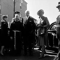 Le General Georges-Phileas Vanier et son epouse Pauline Archer Vanier, le 15 septembre 1963, a Limoilou.<br /> <br /> Photographe : Photo Moderne <br /> - Agence Quebec Presse