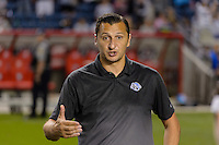 Chicago, IL - Saturday July 30, 2016: Vlatko Andonovski after a regular season National Women's Soccer League (NWSL) match between the Chicago Red Stars and FC Kansas City at Toyota Park.