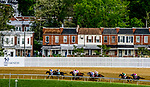 May 15, 2021: Residents of Belvedere Avenue watch the field for the 146th running of the Preakness enter the backstretch on Preakness Stakes Day at Pimlico Race Course in Baltimore, Maryland. Scott Serio/Eclipse Sportswire/CSM