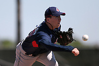Cleveland Indians minor leaguer Randy Newsom during Spring Training at the Chain of Lakes Complex on March 17, 2007 in Winter Haven, Florida.  (Mike Janes/Four Seam Images)