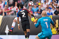 Action photo during the match United States vs Paraguay, Corresponding to  Group -A- of the America Cup Centenary 2016 at Lincoln Financial Field Stadium.<br /> <br /> Foto de accion durante el partido Estados Unidos vs Paraguay, Correspondiente al Grupo -A- de la Copa America Centenario 2016 en el Estadio Lincoln Financial Field , en la foto: (i-d) Dario Lezcano de Paraguay y B DeAndre Yedlin de USA<br />  <br /> <br /> 11/06/2016/MEXSPORT/Osvaldo Aguilar.
