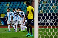 3rd July 2021, Estádio Olímpico Pedro Ludovico stadium, Goiânia, Brazil: Copa America Football tournament, Argentina versus Ecuador; Team Argentina, celebrates the goal from Rodrigo De Paul