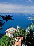 Italy, Lombardia, Lake Garda, Tignale: Sancturay of Madonna di Monte Castello | Italien, Lombardei, Gardasee, Tignale: Sanktuarium der Madonna di Monte Castello