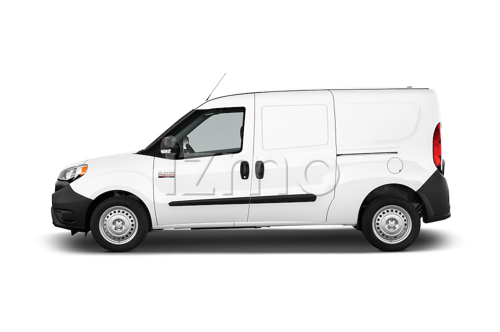 Car driver side profile view of a 2017 Ram Promaster City Trademans 4 Door Cargo Van